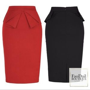 We Like Big Bows & We Cannot Lie Pencil Skirt